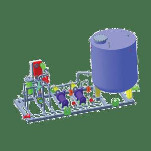 Системы подачи затворной жидкости