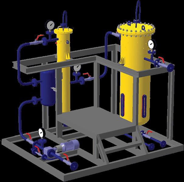 Блок фильтрации и обезвоживания нефтепродуктов
